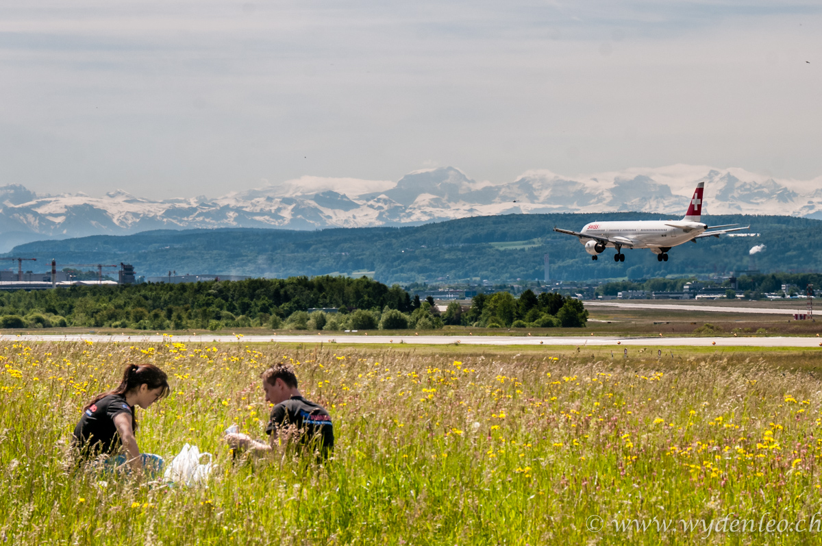 Flughafen Kloten Mittagspause