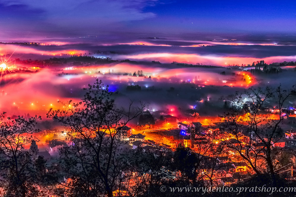 Nebelschwaden über Tarcento by Night