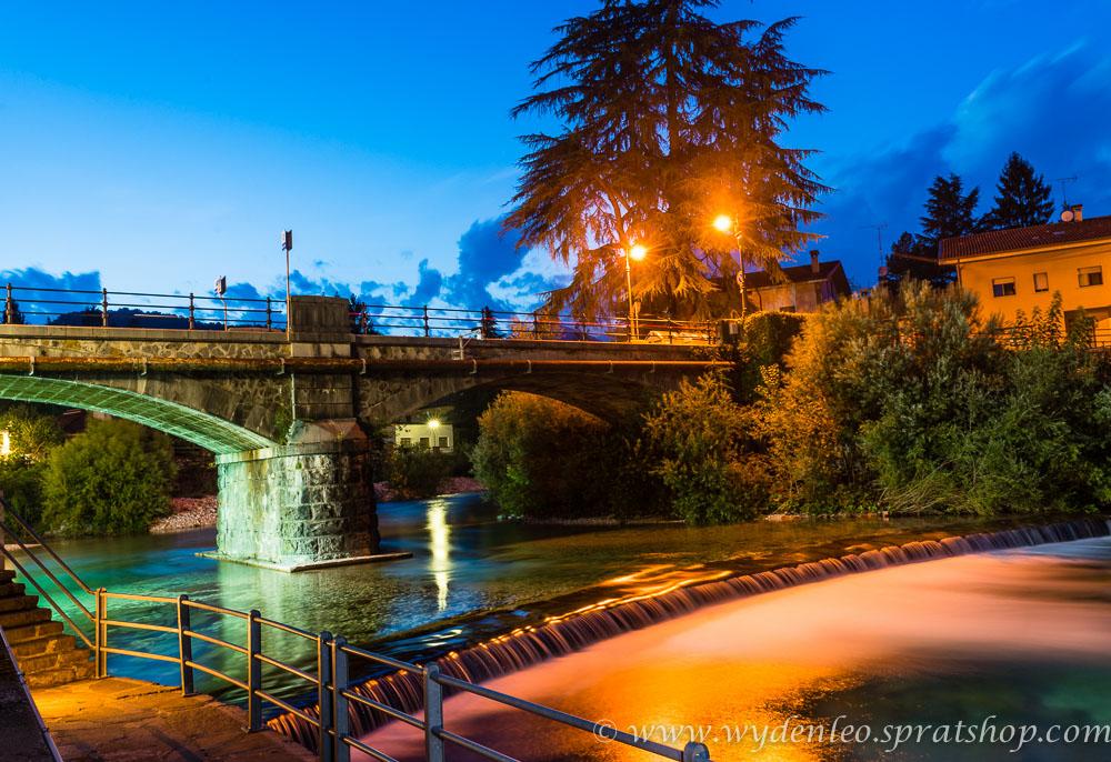 Am Abend am Fluss Torre in Tarcento