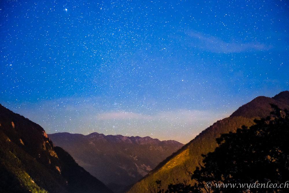 Sternenhimmel über dem Val del Torre