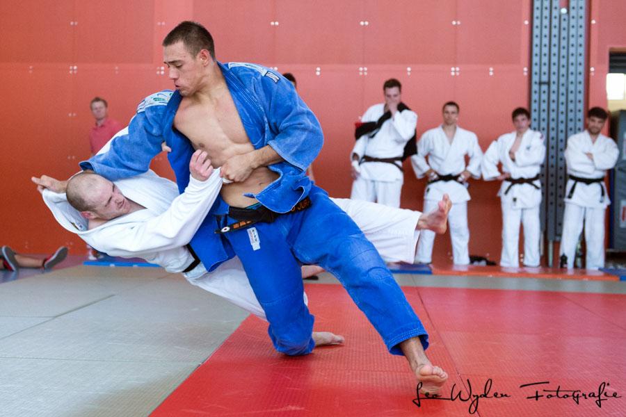 Pascal Chuard gegen John Schindler, Judo, NLA Kampf der Männer, JT Regensdorf - Judo Jura in Regensdorf