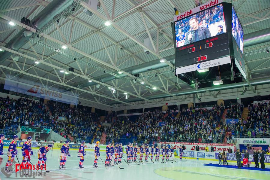 Abschied von Marcel Jenni   Kloten Flyers - HC Lugano,  Eishockey NLA in der SWISS Arena Kloten.